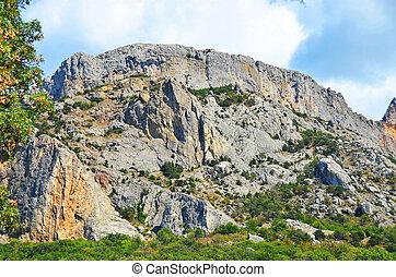 Rock landscape and sky, Foros, Crimea, Ukraine, 2013 year