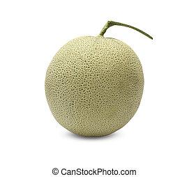 Rock Melon fruit on white background.