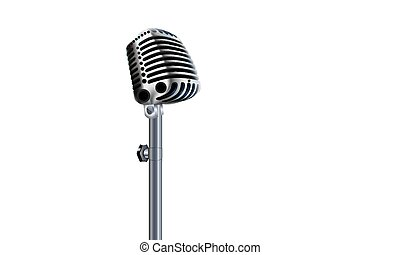rock microphone isolate
