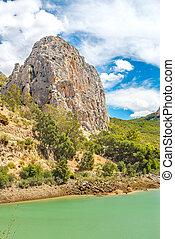 Rock mountain at El Chorro in Malaga