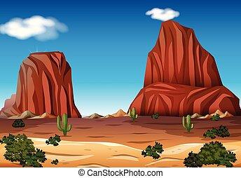 Rock Mountain in the Desert