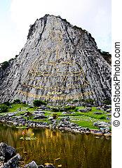 rock mountain - Buddha laser on the rock mountain