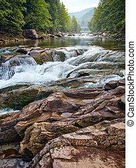 rock mountain river
