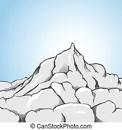 Rock Mountain - Vector illustration of a rocky mountain.