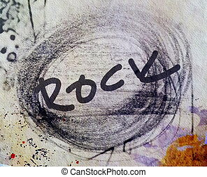 rock music background and texture