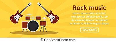 Rock music banner horizontal concept