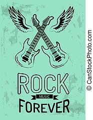 Rock Music Forever Icon Vector Illustration