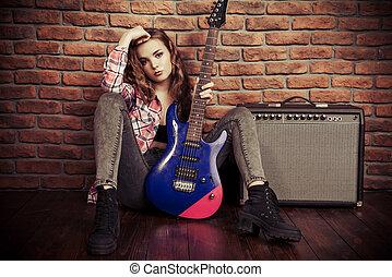 rock music girl