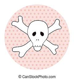 rock music logo skull theme elements vector,eps