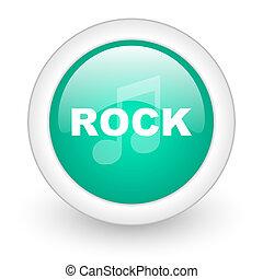 rock music round glossy web icon on white background