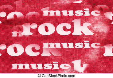 Rock music word backgrounds