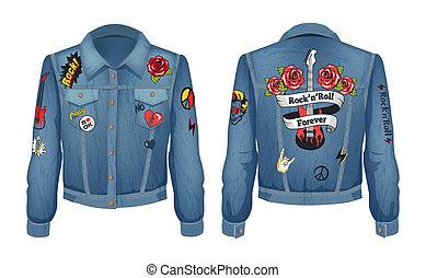 Rock-n-Roll Forever Jacket Vector Illustration