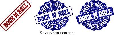 ROCK N ROLL Grunge Stamp Seals