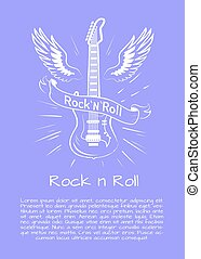 Rock n Roll Music Poster Vector Illustration