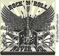 Rock n Roll never die - The vector image of Rock n Roll...