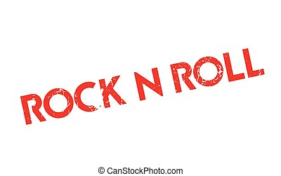 Rock N Roll rubber stamp