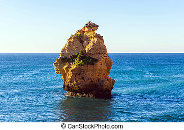 Rock near Praia da Marinha, Algarve region, Portugal