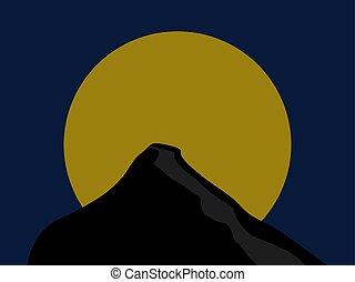 Rock night, illustration, vector on white background.