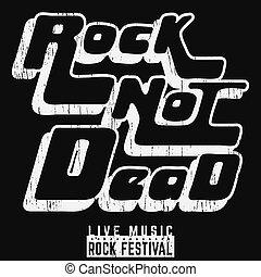 Rock not dead poster