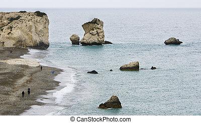 Rock of Aphrodite beach, Paphos