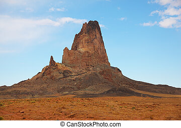 Rock of red sandstone in the Navajo reservation