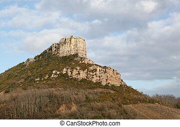 Rock of Solutre in Burgundy