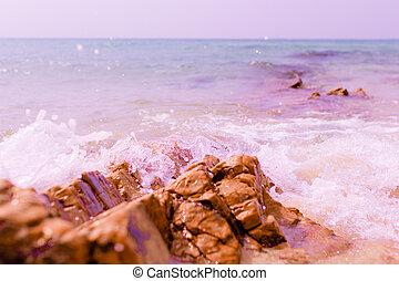 Rock on the beach.