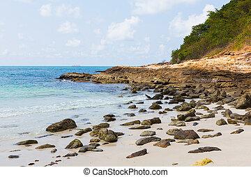 Rock on the sea shore