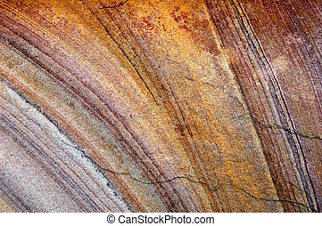 Pattern on a cut rock surface