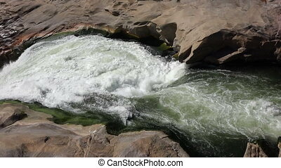 Rock pool - Augrabies waterfall - Rocks pool above the...