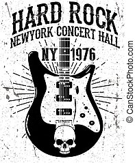 Rock poster, vintage rock and roll typographic for t-shirt; tee design; poster; vector illustration