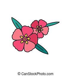 Rock rose icon, cartoon style