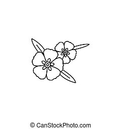 Rock rose icon, outline style