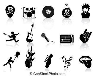 rock, rotolo, icone