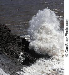 Rock Sea Shore Spray