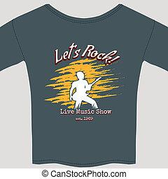 rock show tee shirt - Live rock show tee shirt template...