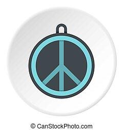 Rock sign icon circle