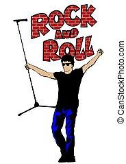Rock singer man four