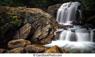 Rock small waterfall