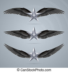 Rock star gray colour soars on the wings of music on the...