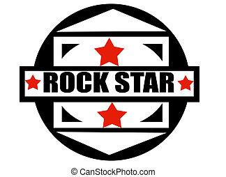 Rock star label,vector illustration