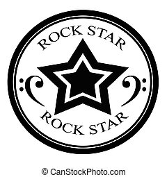 Rock star - Stamp with text rock star inside, vector...