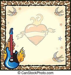 Rock Star Tattoo Invitation