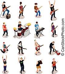 Rock Stars Isometric People