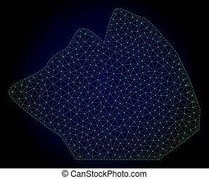 Rock Stone Polygonal Frame Vector Mesh Illustration