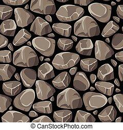 Rock Stone Seamless Pattern