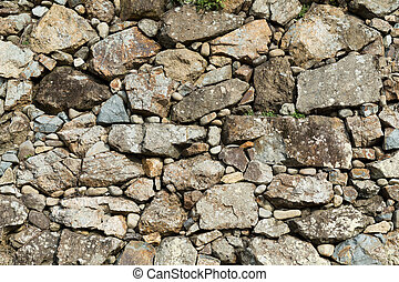 Rock stone wall texture