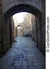 Rock Street in The old City in Jerusalem