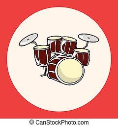 rock style drum theme elements