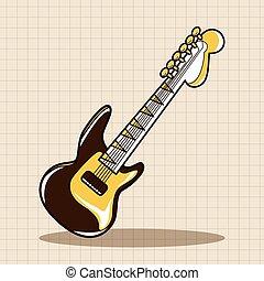 rock style guitar theme elements